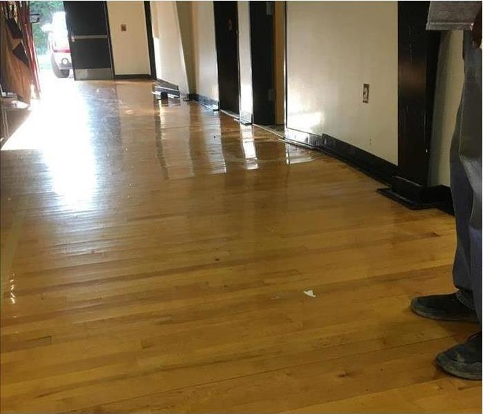 Wooden floor clean after water damage